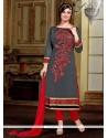 Ruritanian Silk Designer Straight Salwar Kameez
