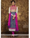 Grey Cotton Churidar Designer Suit