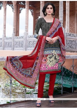 Immaculate Lace Work Churidar Salwar Kameez