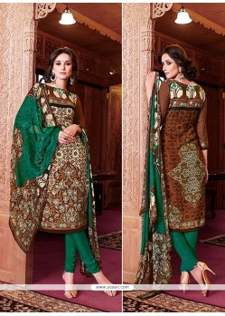 Superlative Lace Work Churidar Designer Suit