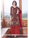 Regal Lace Work Multi Colour Pashmina Designer Palazzo Salwar Suit