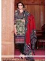 Resplendent Pashmina Lace Work Churidar Salwar Kameez
