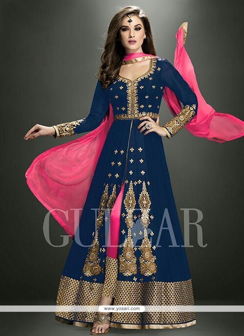 Stunning Zari Work Designer Salwar Suit