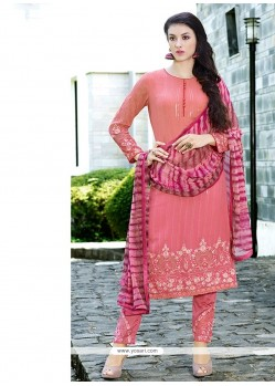 Angelic Hot Pink Georgette Pant Style Suit