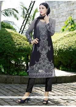 Superb Resham Work Georgette Pant Style Suit