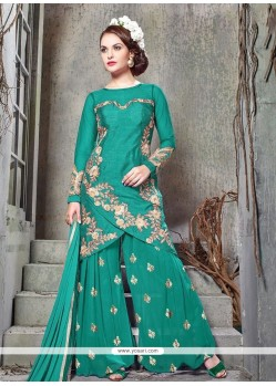 Awesome Embroidered Work Designer Palazzo Salwar Suit