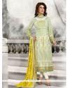 Spellbinding Georgette Green Designer Straight Salwar Kameez