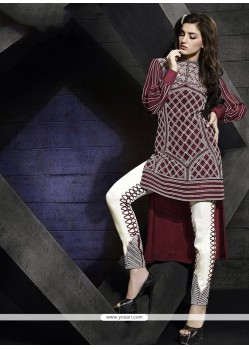 Staring Embroidered Work Pant Style Suit
