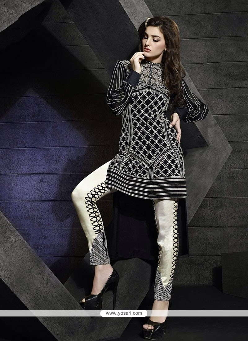 Blooming Georgette Embroidered Work Pant Style Suit