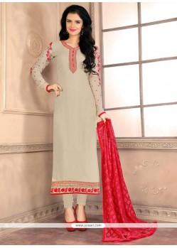 Fetching Grey Designer Straight Salwar Kameez