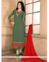 Glitzy Georgette Designer Straight Salwar Suit