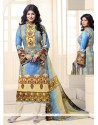 Ayesha Takia Cotton Multi Colour Designer Straight Salwar Kameez