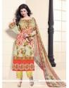 Ayesha Takia Cotton Print Work Designer Straight Salwar Suit