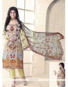 Ayesha Takia Multi Colour Cotton Designer Straight Salwar Kameez