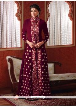 Beckoning Resham Work Velvet Designer Suit