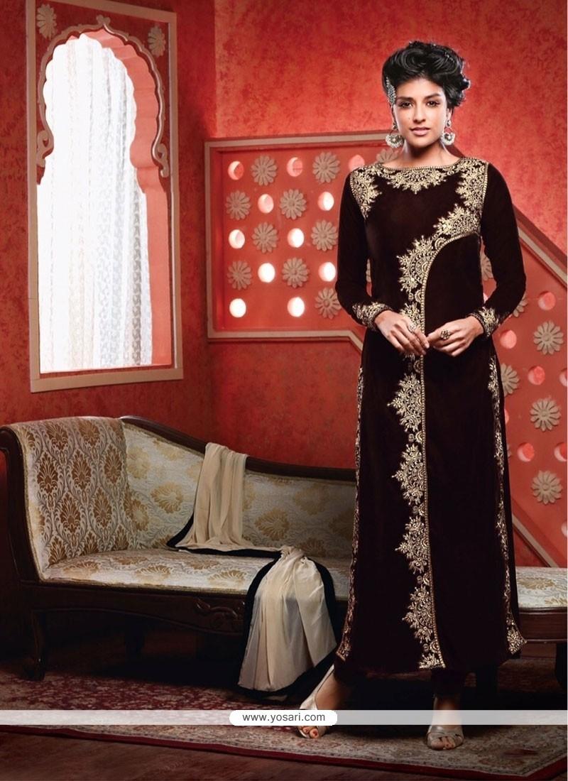 Blissful Brown Designer Suit