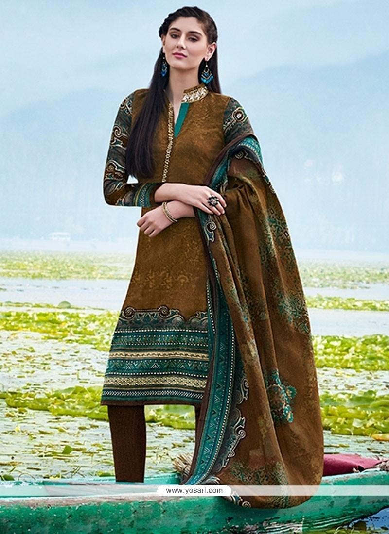 Exciting Multi Colour Churidar Designer Suit