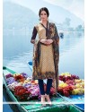 Noble Pashmina Multi Colour Print Work Churidar Designer Suit