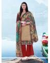 Multi Colour Pashmina Designer Suit