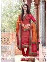 Versatile Pashmina Multi Colour Print Work Churidar Designer Suit