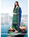 Phenomenal Print Work Multi Colour Pashmina Churidar Designer Suit