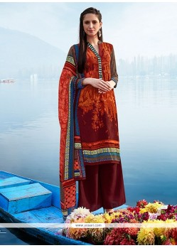 Miraculous Multi Colour Print Work Pashmina Designer Suit