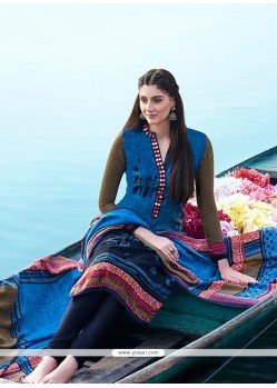 Dashing Multi Colour Churidar Designer Suit