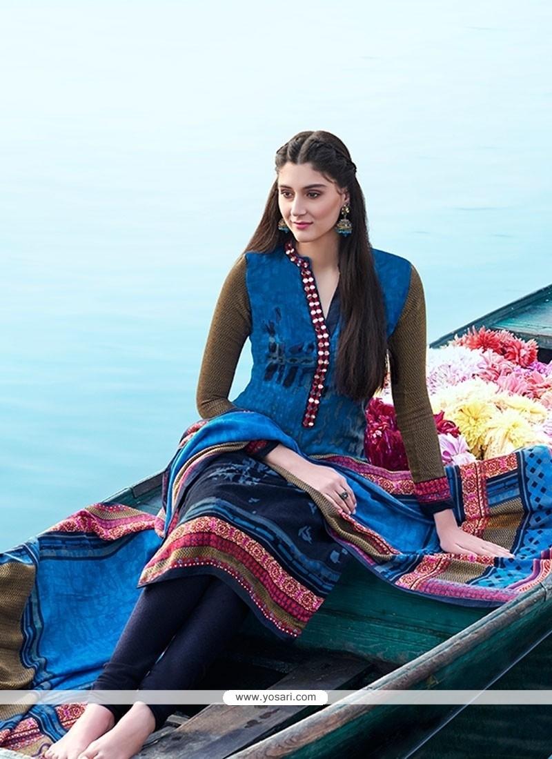 Dashing Multi Colour Churidar Designer Suit