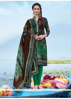Haute Multi Colour Churidar Designer Suit