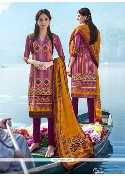 Swanky Multi Colour Churidar Designer Suit