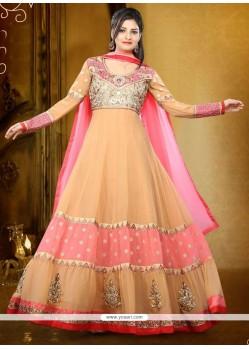 Glitzy Resham Work Georgette Anarkali Salwar Kameez