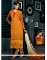Pristine Mustard Resham Work Churidar Suit