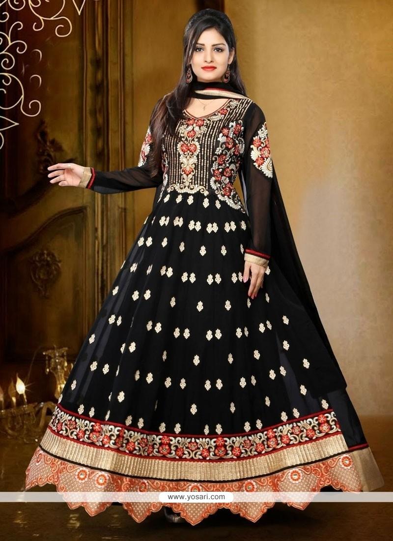 Divine Georgette Resham Work Anarkali Salwar Kameez