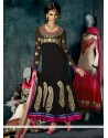 Epitome Black Georgette Anarkali Suit