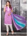 Competent Lavender Churidar Designer Suit