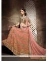 Perfect Pink Net A Line Lehenga Choli