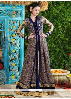 Gleaming Net Embroidered Work Designer Suit