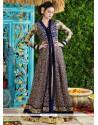 Gleaming Net Embroidered Work Designer Suit