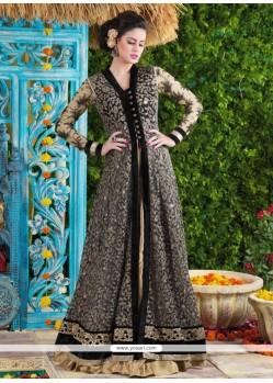 Simplistic Net Black Designer Suit