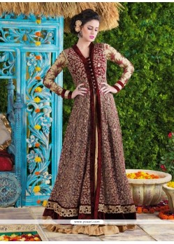 Dilettante Patch Border Work Designer Suit