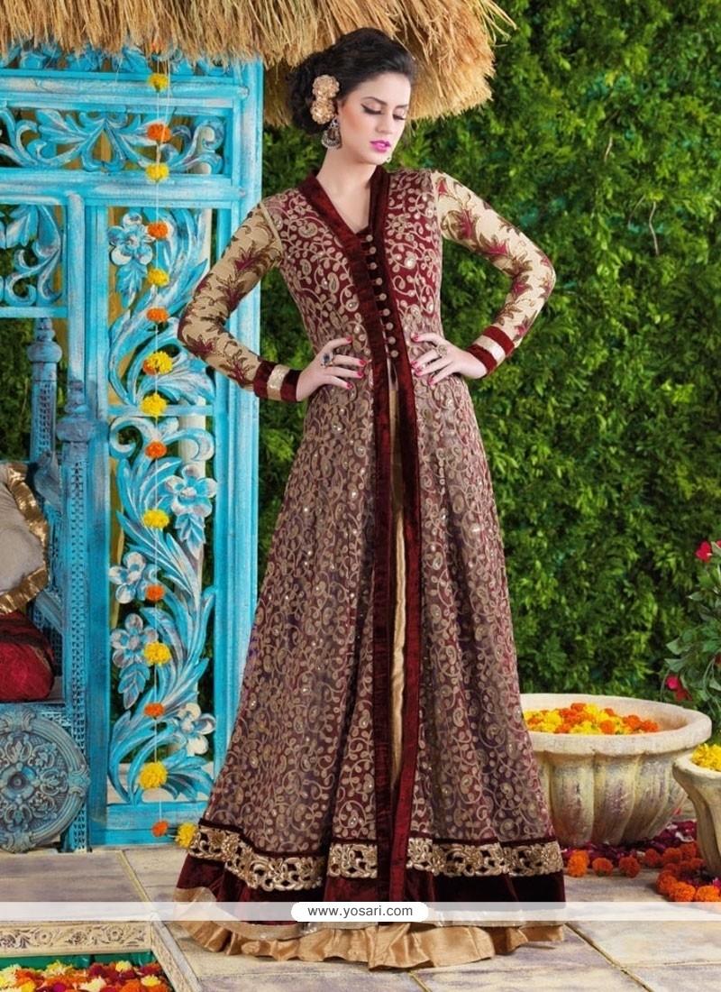Dilettante Patch Border Work Designer Suit