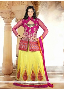 Mesmerizing Georgette Embroidered Work A Line Lehenga Choli