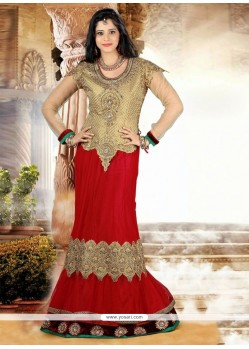 Simplistic Georgette Embroidered Work A Line Lehenga Choli