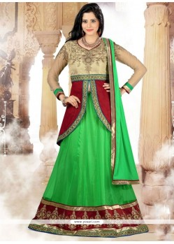 Engrossing Embroidered Work A Line Lehenga Choli
