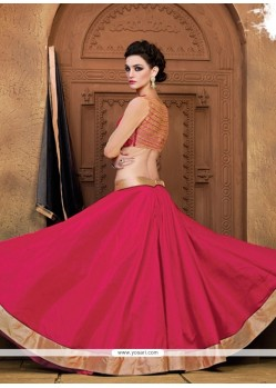 Masterly Lace Work Raw Silk A Line Lehenga Choli