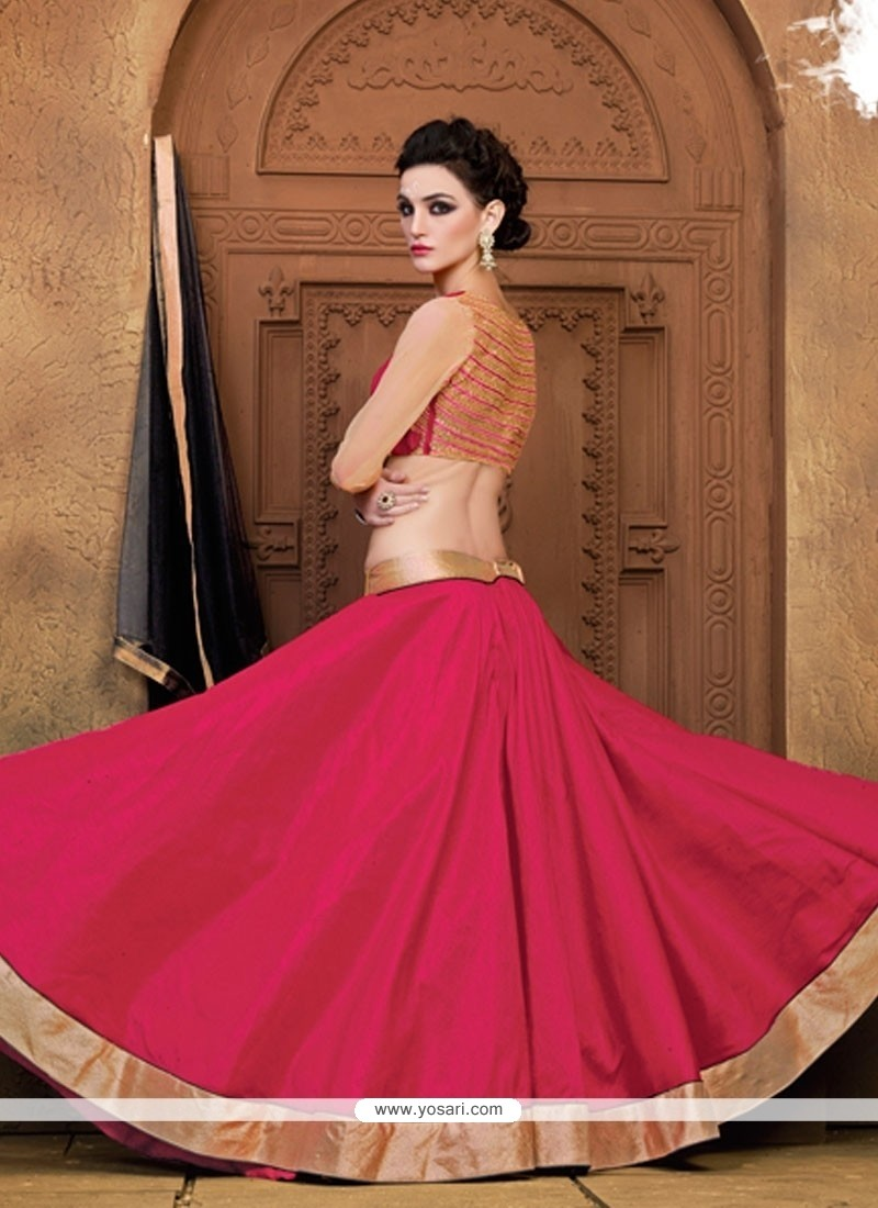 22373d1162 Shop online Masterly Lace Work Raw Silk A Line Lehenga Choli