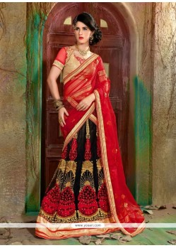 Preferable Net Resham Work A Line Lehenga Choli