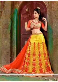 Suave Yellow A Line Lehenga Choli