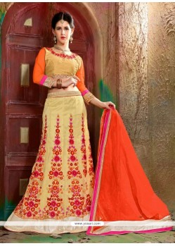 Trendy Cream A Line Lehenga Choli