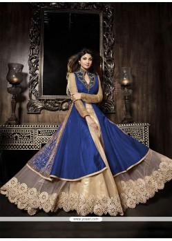 Shilpa Shetty Blue Resham Work A Line Lehenga Choli